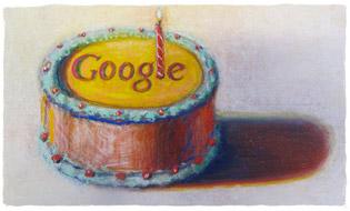 สุขสันต์วันเกิดกูเกิล 12 ปี โดย Wayne Thiebaud รูปภาพนี้ได้รับอนุญาตจาก VAGA NY