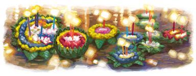 Google Logo: Loi Krathong - Festival of Light