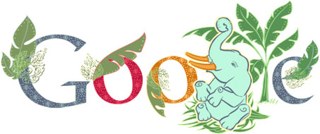 Google Logo: National Elephant Day in Thailand