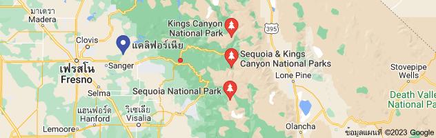 แผนที่ของking canyon california